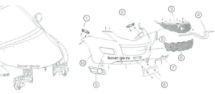передний бампер H5